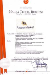 Paspas Market tescil